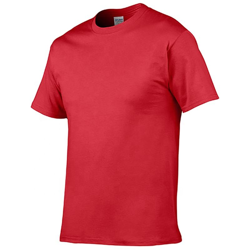 Red Slimming Show Muscle Casual And Sporty Contton Round Neck Short Sleeve T-shirt Unsex