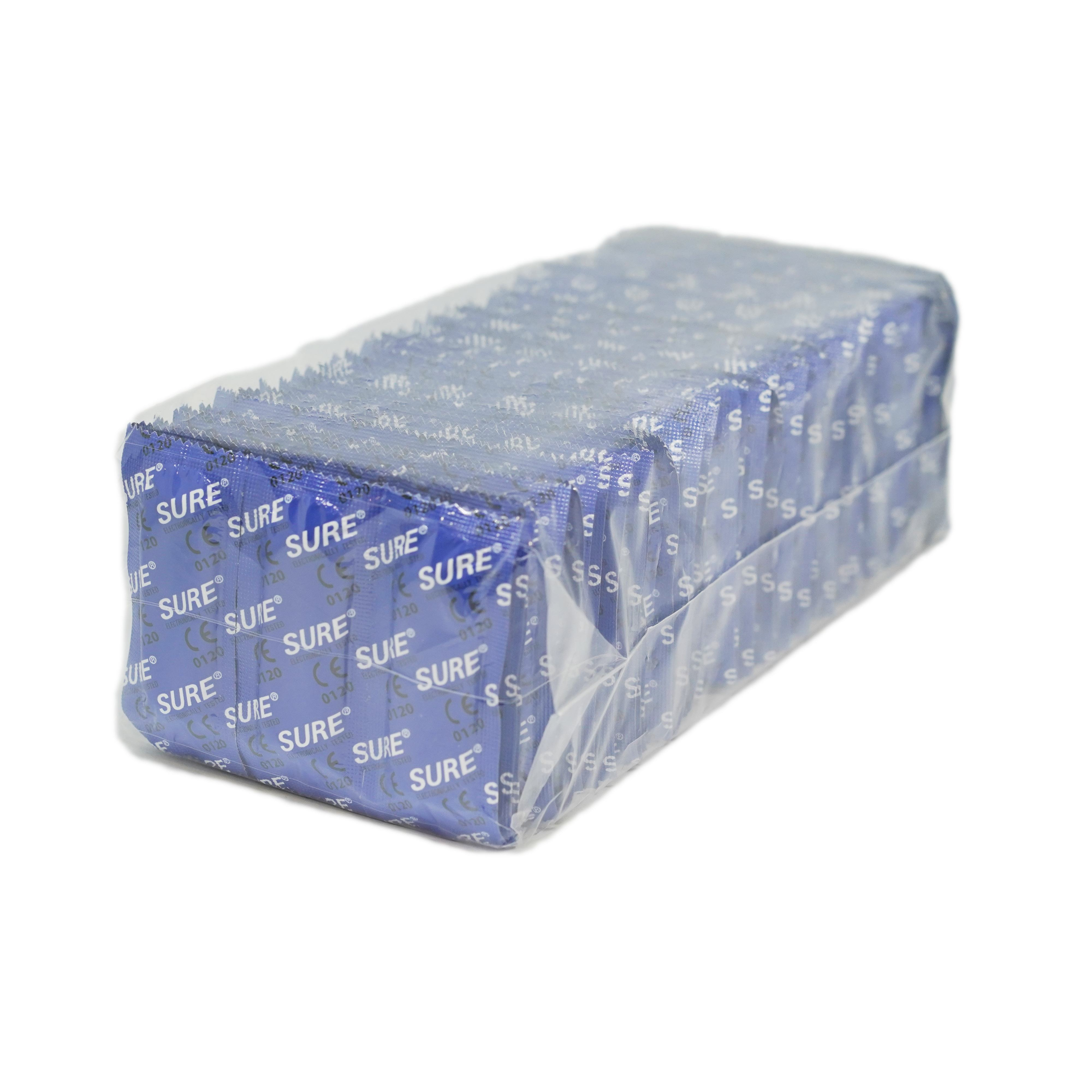 Fast Delivery Plain Ribbed Dotted Ultra Thin 144 Pieces Rectangular Bulk Pack SURE Condoms Manufacturer Price
