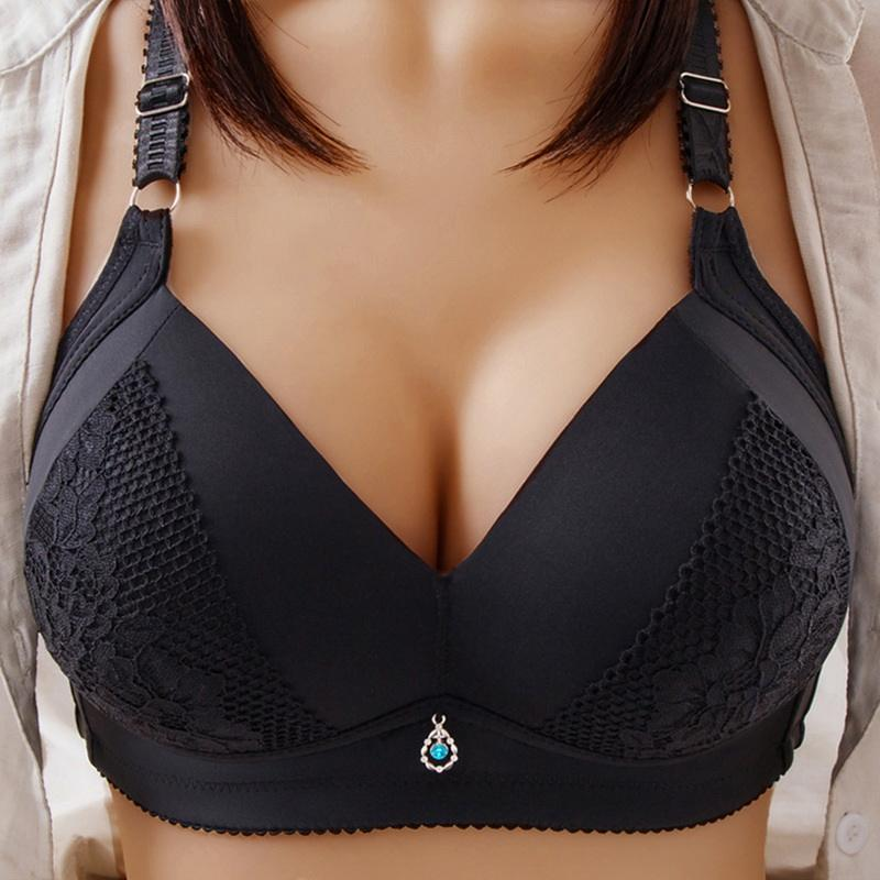 Women plus size breathable large breast with padded big size bra