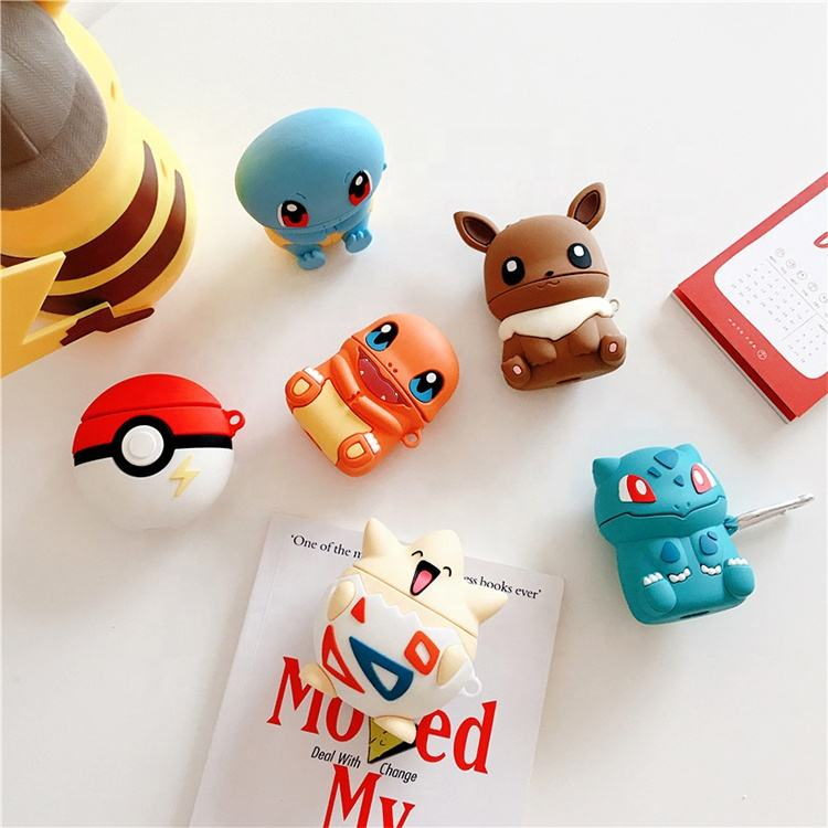 Pokemon Airpods Case For Airpods Carton Silicone Case For Airpods Case Kawaii