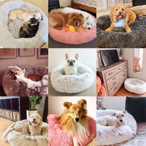 2020 Instagram hot product round pets bedding pet beds cotton dog cat bed