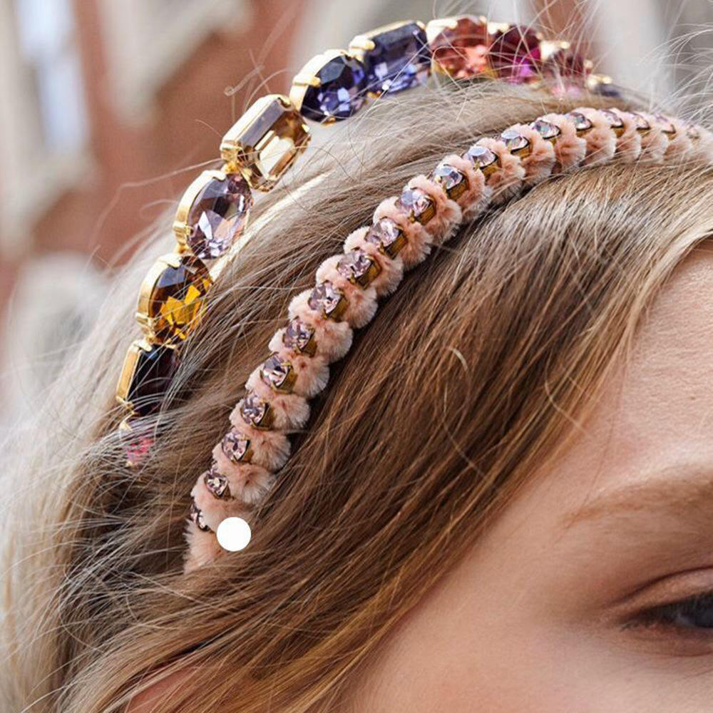 Euramerican Luxury new design party hair band girls hairbands antique jewel bridal rhinestone baroque crystal headband for women
