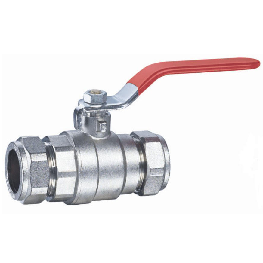 DN10 to 50 ball valve strong iron handle to connect with copper pipe