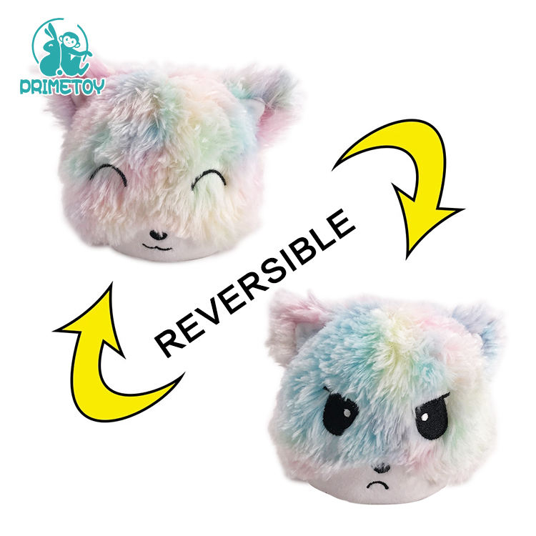 Colorful flip pulpo reversible de peluche toys plush