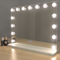 Led lighted table vanity makeup Hollywood Mirror With 15pcs 18pcs Light Bulbs For Girl Cosmetic