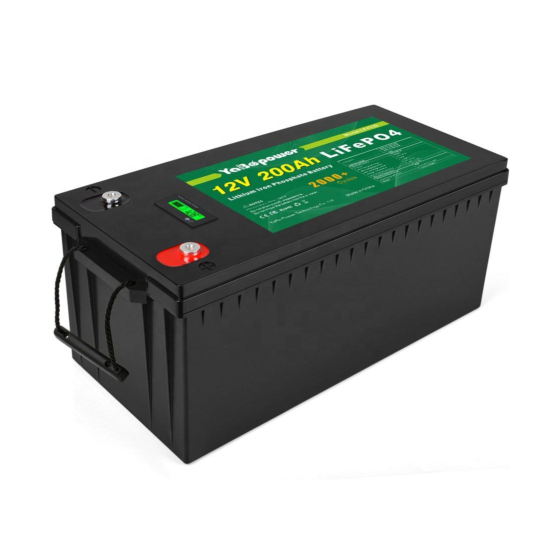 100Ah 150Ah 200Ah 300Ah 400Ah Rechargeable Lithium Ion Battery Solar Pack Deep Cycle 12V 200Ah Solar LiFePO4 Battery