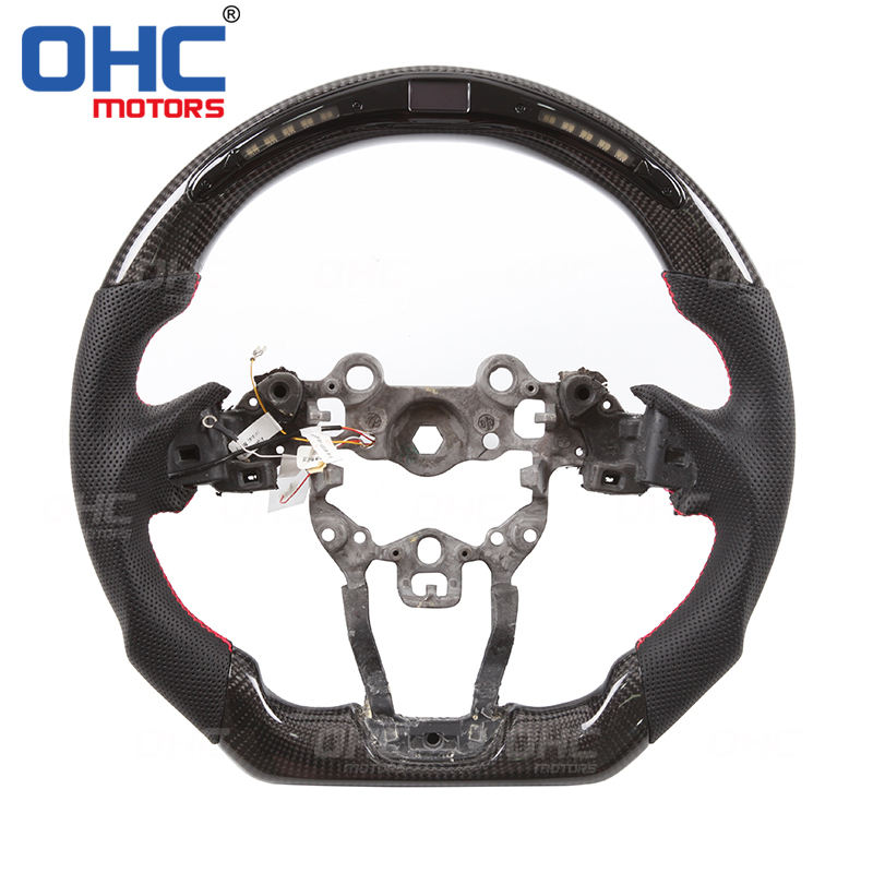 1PCS ABS Red Steering Wheel u-shaped Bottom Cover Trim For Mazda 3 Axela 2017