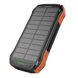 Type-C 3A Fast Output 10000mAh with 10W Wireless PD 18W 3 USB Power Bank Solar Charger