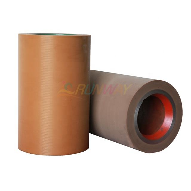 "High quality 10"" Aluminium Paddy Rubber Rolls for rice milling machine"