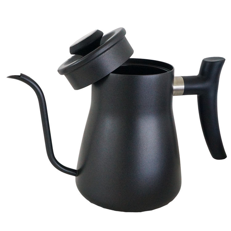 Black coating unique decorative travel camping coffee tea water kettle and teapot SS304