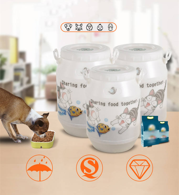 Pet Dog Feeder Storage Food Container Dogs Cats Food