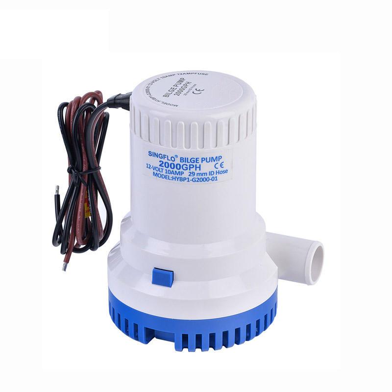 SINGFLO high quality factory marine RV submersible water pump 12v 2000GPH dc bilge pump