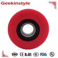 Geekinstyle High load 6204 rubber bearing elevator wheel 70 76 80 x 25 polyurethane bearing hardness 95A rubber