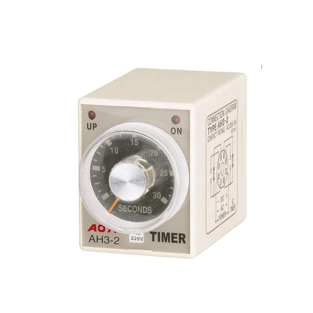 China 220V pointer timer AH3-2 off delay time relay with high quality