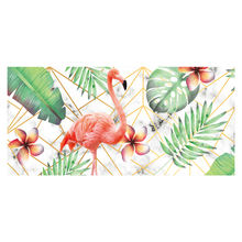 art craft picture frame 25x52 abstract animal flamingo wall painting for decoration