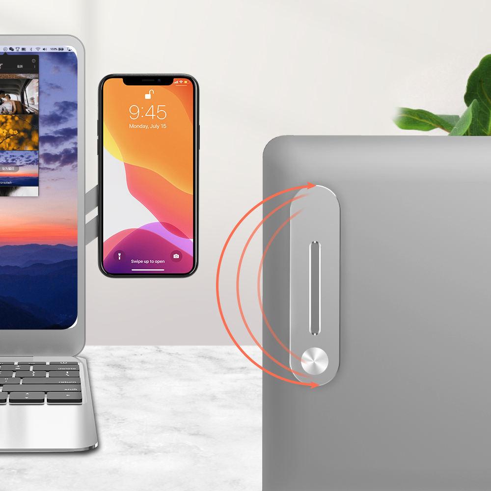 Универсальный pasteable алюминиевый сплав ноутбук скользящая Скоба магнитное крепление для держателя мобильного телефона