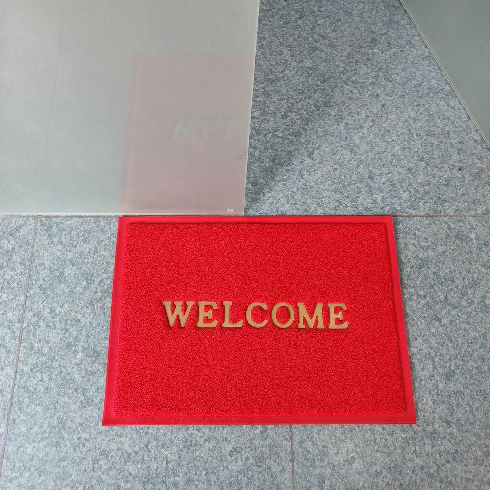 3G welcome logo custom pvc coil door mat
