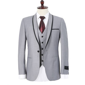 Suit is tailored for men's leisure with long sleeves.