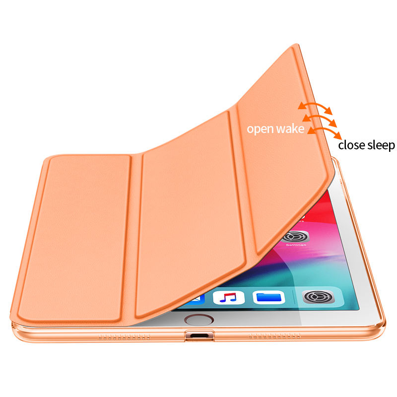 PU Leer Met Smart Shell Stand Hard Cover Case Voor ipad Air 3 10.5 Auto Sleep/Wake