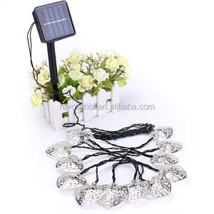 12 Led Metalen Hartvorm Ster Solar Garden Party Wedding Holiday String Lights