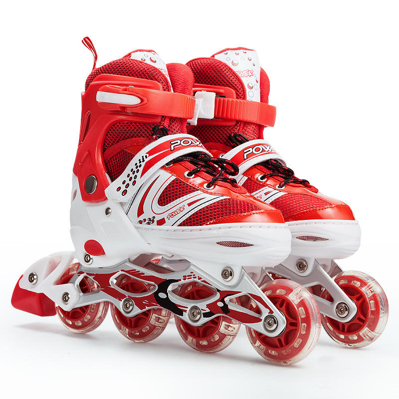 OEM wholesale inline design roller skates promote cheap children's sports PVC roller skates shoes