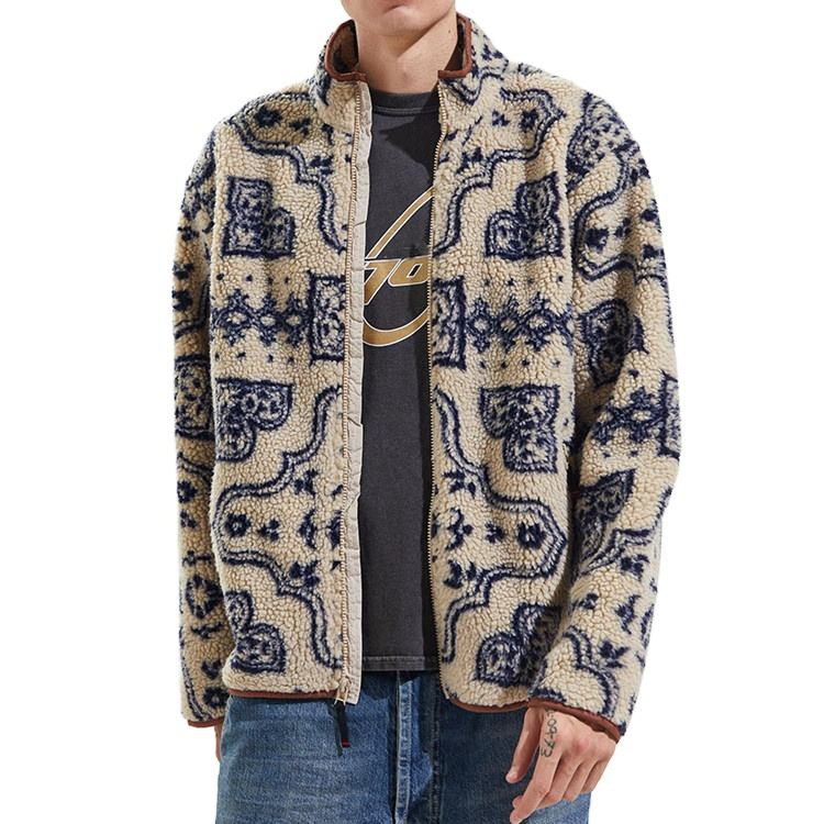 New Style Custom Sherpa Fleece Jacket Mens Winter Jacket Multi Pattern Jackets
