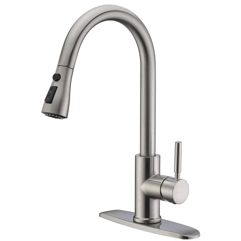 No.K010B Desk Mounted Brushed Kitchen Faucet, Brass upc 61-9 nsf Kitchen Faucet