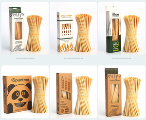 eco friendly natural organic wheat drinking straw 100% biodegradable