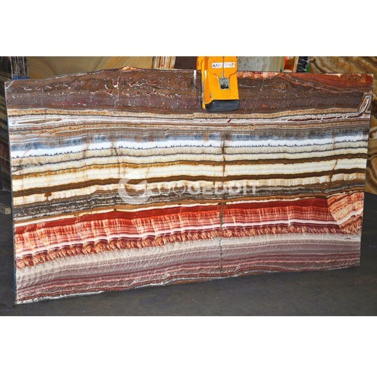 Backlit Mexican Red Rainbow Onyx Fantastico Stone Slab Price