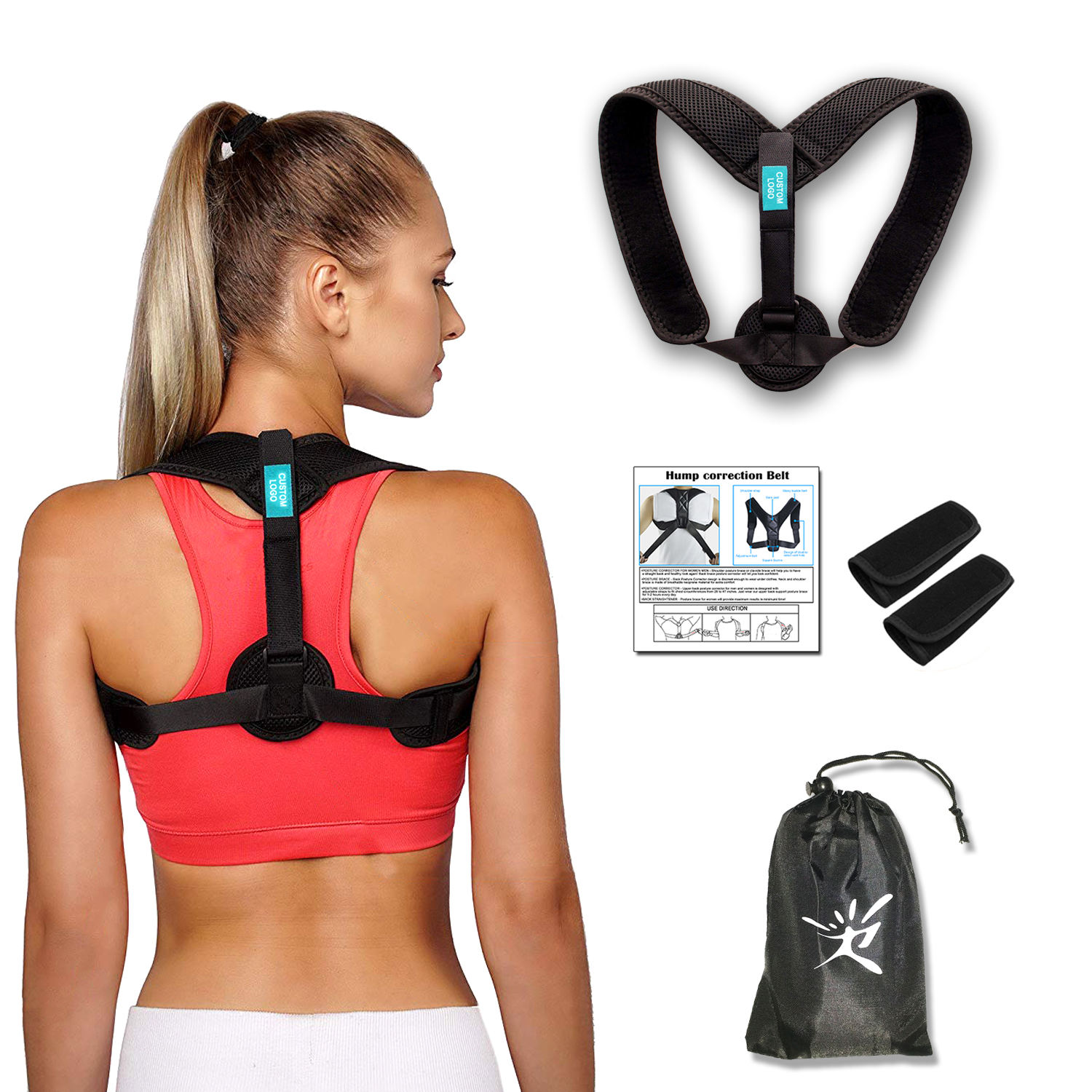 New Amazon Custom FDA CE Effective Comfortable Adjustable Posture Correct Brace for Women Men Upper Back Brace Spinal Support