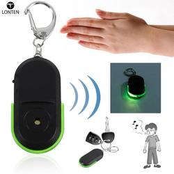 Lonten Portable Size Old People Anti-Lost Alarm Key Finder Wireless Useful Whistle Sound LED Light Locator Finder Keychain