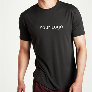 Round neck wholesale custom logo shorts sleeve plain summer casual sports t-shirt for men t shirt