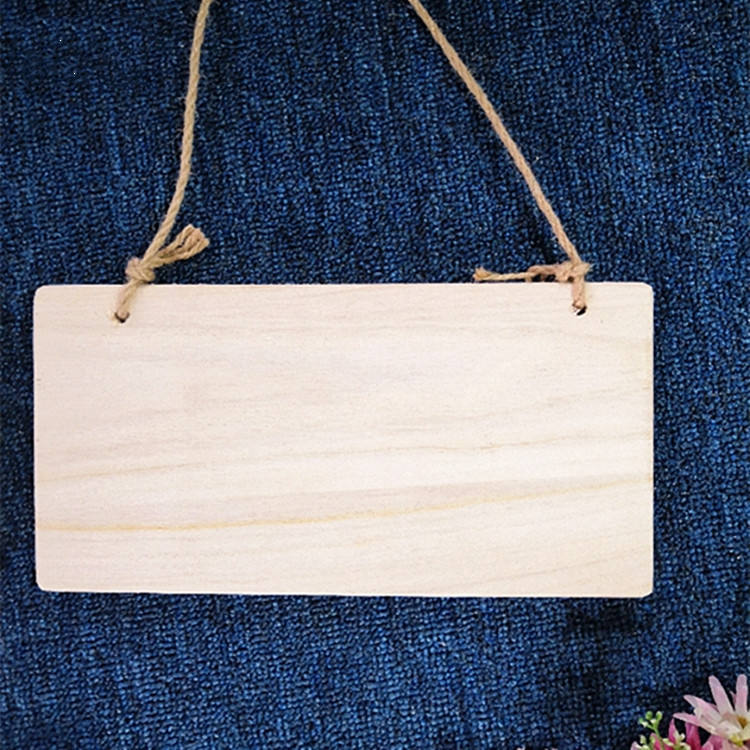 custom laser cut rectangle shape blank wood sign wooden for door decor