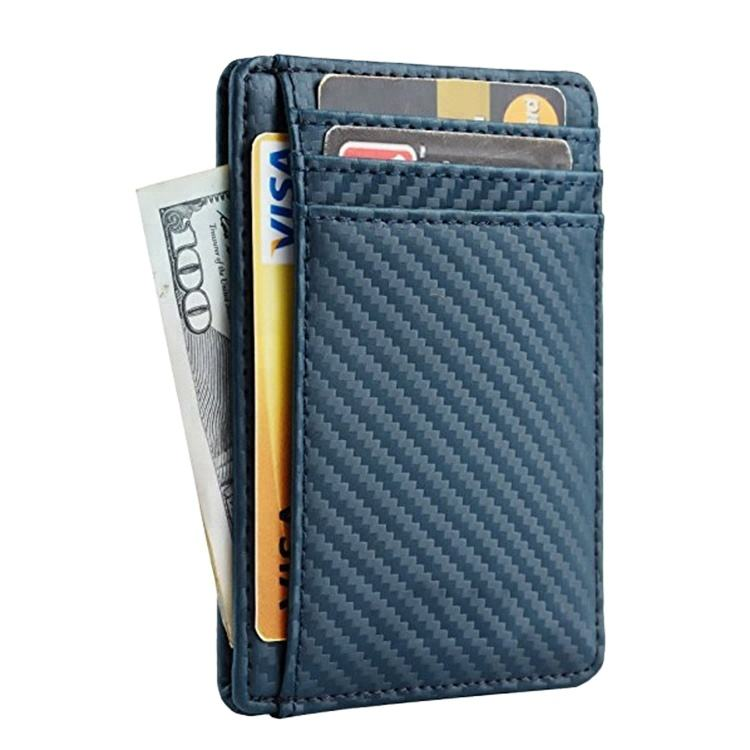 Slim Minimalist Rfid Blocking Carbon Fiber Card Holder