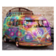 Colorful bus 5d Diy Diamond Painting Square and Round Drill Diamond Painting Diamond Mosaic