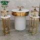 custom size wedding Banquet hall furniture MDF top round wedding cake table