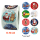 Self adhesive private custom printed stock Christmas gift packaging label