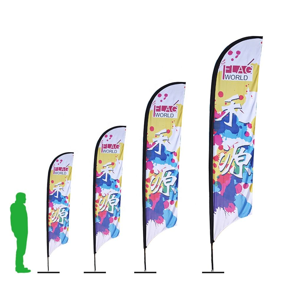 Cheap Custom Double Sided Sublimation Printing Advertising Feather Flags for Promotion