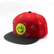 Children Cute Smiley Baseball Cap adjustable Girls Boys Snapback Bone Hip Hop Cap Cartoon Kids Sunshade Hat
