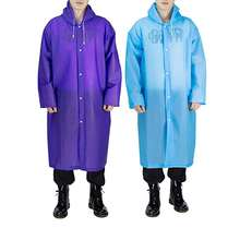 High quality Portable EVA Raincoats for Adults Reusable Rain Ponchos with Hoods and Sleeves Lightweight Raincoats