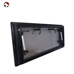 New products custom aluminium double layer extrapolated caravan rv windows