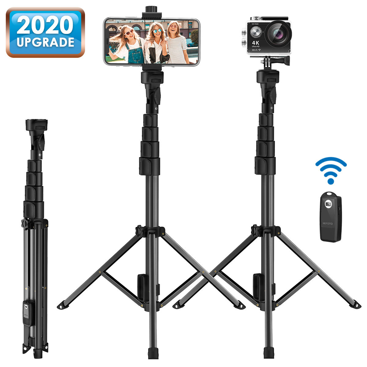 2 in 1 Wireless Mini Extendable Monopod Universal bluetooth Selfie Stick Tripod For iPhone Samsung smartphone camera