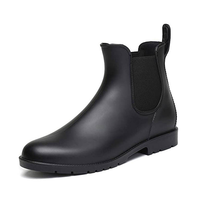 Fashion Adult Ladies Waterproof Ankle Chelsea Boots Woman Wellington Rubber Rain Boots