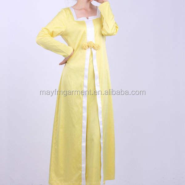 Delicado de <span class=keywords><strong>las</strong></span> mujeres musulmanas largo vestido amarillo