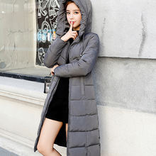 winter women long windproof hiking outdoor warm clothes down coat