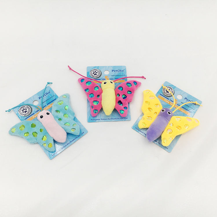 High Quality Cute butterfly shape catnip cat toy