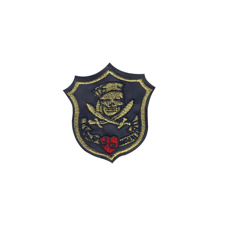 Hohe qualität angepasst 3D pirate flag design stickerei abzeichen
