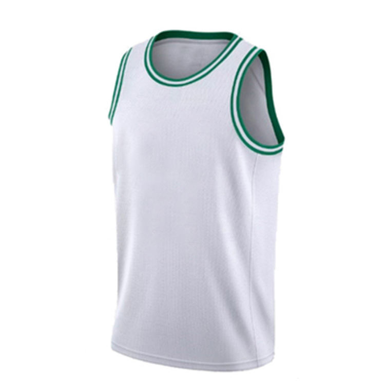 Wholesale Customcheap basketball jerseys girls basketball wear Cheap european basketball white and green jerseys
