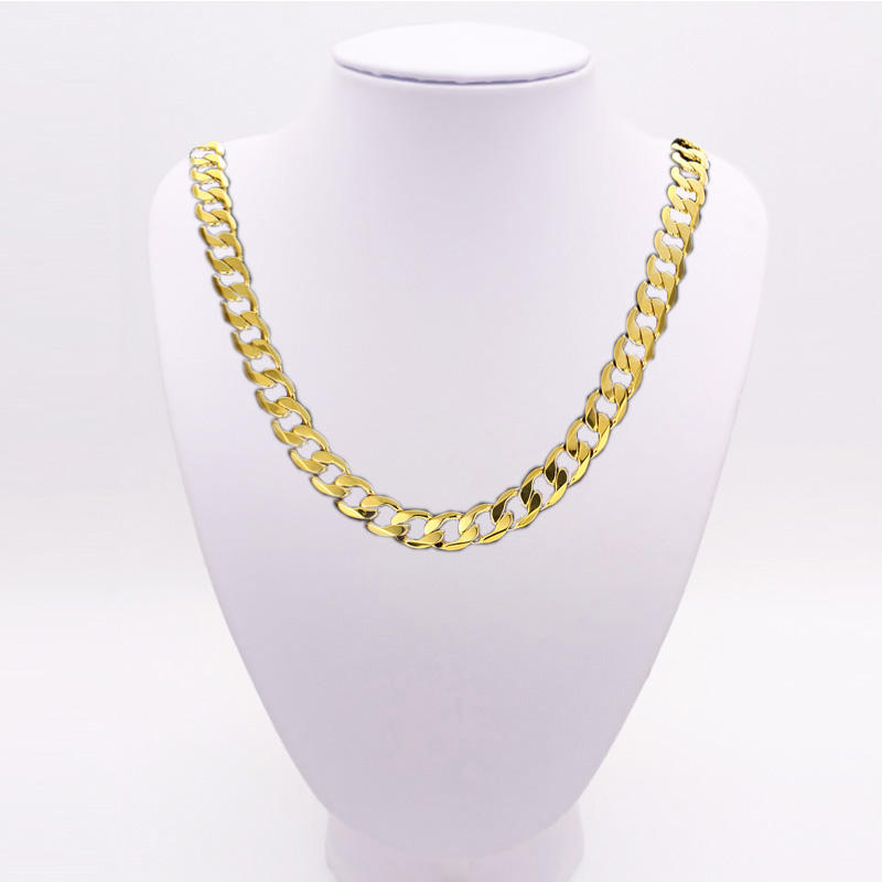 zinc jewelry Fashion 18k gold chain for men, gross Jewelry gold Men Necklace