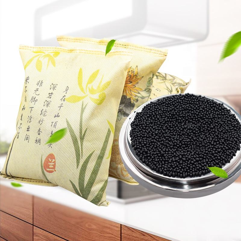500g ODM air purifying bamboo charcoal odor bag for car closets bathrooms and pet areas Made in China